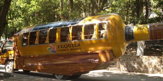 Tequila Distillery Tour Bus